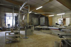 De werkplaats van EHP saunabouw