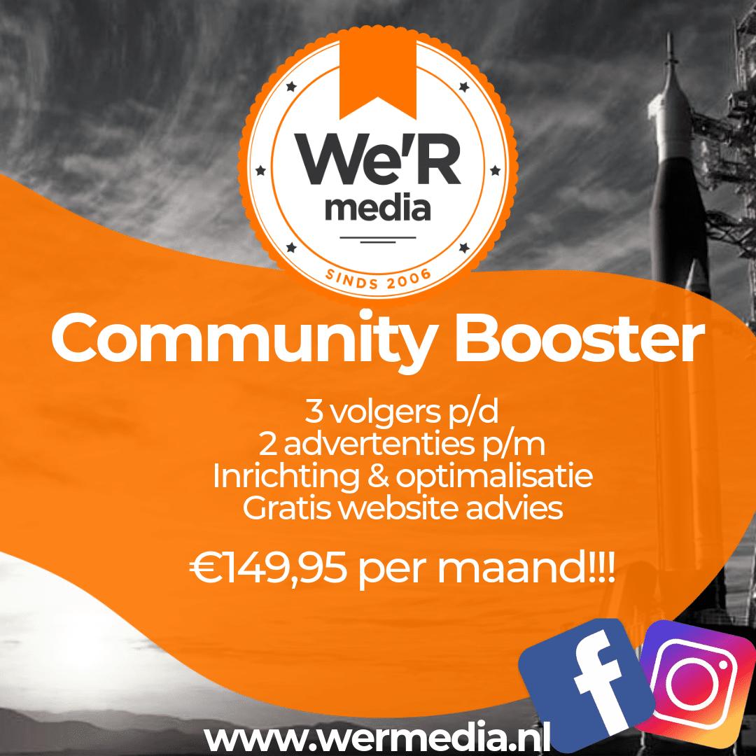 meer volgers op facebook en instagram krijgen? Boost je community!